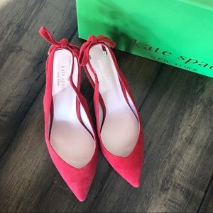 Kate Spade Red Suede Pumps Size 9